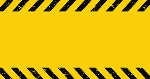 Black and yellow Caution tape. Blank Warning background. Vector illustration. Black and yellow Caution tape. Blank Warning background. Vector royalty free illustration
