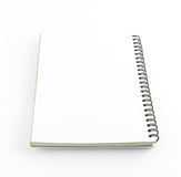 Blank notebook isolate  Stock Photography