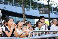 '国民教育'在香港提高狂怒 免版税图库摄影