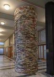 '成语'由斯洛伐克的艺术家马迪积Kren在布拉格市政图书馆里,捷克 库存照片