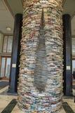 '成语'由斯洛伐克的艺术家马迪积Kren在布拉格市政图书馆里,捷克 库存图片
