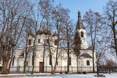 白色东正教在Piotrkow Trybunalski 库存图片