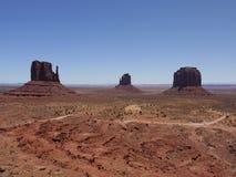 '手套的'看法,纪念碑谷,亚利桑那犹他,美国 免版税库存图片