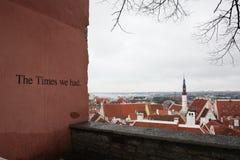 '时代我们有'塔林爱沙尼亚 库存图片