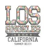 '洛杉矶,加利福尼亚,夏天海滩'印刷术,T恤杉打印 皇族释放例证