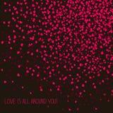 '爱是所有在您附近!'可爱的明信片 复制文本的空间 库存图片