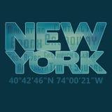 '纽约'印刷术 免版税库存照片