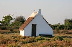 'Cabane de Gardians' (牧人的棚子), Camargue,法国 库存照片
