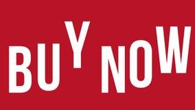 'Compre agora 'a bandeira expressivo animação sem emenda