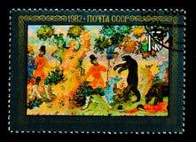 'Dos campesinos ', A f Kotyagin, 1933, serie, circa 1982 foto de archivo libre de regalías