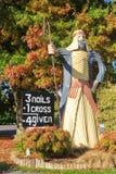 'Estátua do bom pastor 'do ferro corrugado, Tirau, Nova Zelândia foto de stock