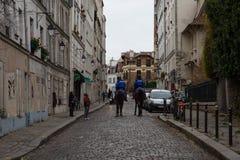 'Gilets Jaunes的示范的在巴黎,法国 免版税库存照片