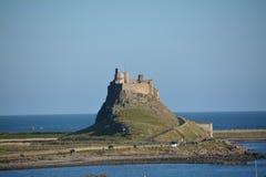'Isla santa ', Lindisfarne Northumberland Sitio histórico foto de archivo libre de regalías