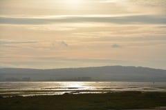 'Isla santa ', Lindisfarne Northumberland Sitio histórico imagenes de archivo