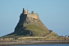 'Isla santa ', Lindisfarne Northumberland Sitio histórico imágenes de archivo libres de regalías