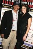 'Layla'泛非电影节首放的克林顿H.华莱士和厄休拉Taherian。 Culver广场剧院, Culver市,加州 免版税库存照片