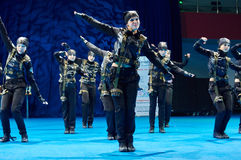 'MegaDance'在芭蕾舞蹈艺术, 2015年11月28日的儿童的竞争在米斯克,白俄罗斯 免版税图库摄影