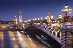 'pont亚历山大III'在巴黎 库存图片