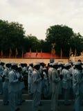 'Wari'-对神的传统步行 图库摄影