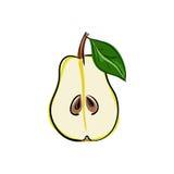'ÑŒ del ‡ Ð°Ñ del illustrationÐŸÐµÑ del vector de la acción de la fruta de la pera Imagenes de archivo