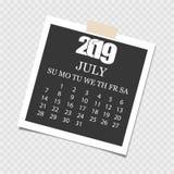 'ÑŒCalendar 2019 del ‡ Ð°Ñ de ПÐ?Ñ Rasgue el calendario Fondo gris Ilustración del vector ilustración del vector