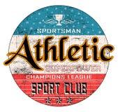 'Atletisch, sportman, de typografie van de sportclub ', de druk van het T-stukoverhemd royalty-vrije illustratie