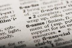 'Financiën in een Woordenboek stock illustratie