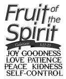 'Frucht des Geistes 'beschriften stockfotos