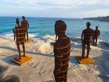 'Het verplaatsen van horizonnen is een plastisch kunstwerk door April-pijnboom bij het Beeldhouwwerk door de Overzeese jaarlijkse royalty-vrije stock foto