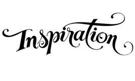 'Inspiratie 'kalligrafie royalty-vrije illustratie