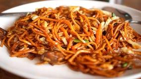 'Mee Goreng 'of Fried Mee From Kuching, Sarawak stock foto's