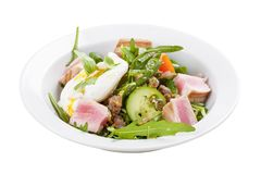 'Nicoises Salat lizenzfreies stockbild
