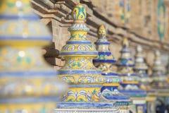 'Plaats DE l 'Spanje 'in Sevilla, banken royalty-vrije stock fotografie