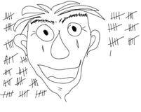 'Plaats me vrije 'getrokken vectorillustratie vector illustratie