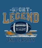 'Sport, Legende, Hochschul'Typografie, zur Schau tragende T-Shirt Grafiken vektor abbildung