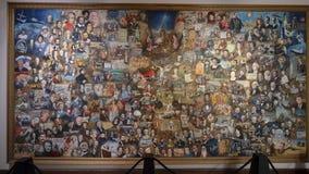'Tapijtwerk van de Eeuwen door Vladimir Gorsky, in het Museum van Bijbelse Kunsten in Dallas, Texas wordt getoond dat royalty-vrije stock afbeeldingen