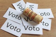 'Voto 'in het Portugees: Stem, politieke corruptie in Brazilië en de aankoop van stemmen in verkiezingen royalty-vrije stock foto's