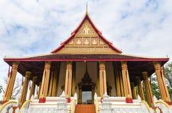 'Wat Ho Phakeo Temple 'is een Boeddhistische Archaïsch Plaats en een Één van Aantrekkelijk Oriëntatiepunt van Vientiane-Stad van  stock foto