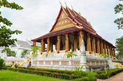 'Wat Ho Phakeo Temple 'is een Boeddhistische Archaïsch Plaats en een Één van Aantrekkelijk Oriëntatiepunt van Vientiane-Stad van  stock afbeeldingen