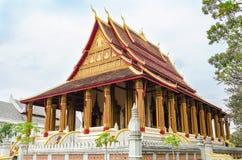 'Wat Ho Phakeo Temple 'is een Boeddhistische Archaïsch Plaats en een Één van Aantrekkelijk Oriëntatiepunt van Vientiane-Stad van  royalty-vrije stock afbeeldingen