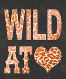 'wild bij liefde 'typografie, t-shirtdruk vector illustratie