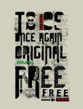 """""""για να είναι άλλη μια φορά αρχική ελεύθερη """"τυπογραφία, γραφική παράσταση πουκάμισων γραμμάτων Τ απεικόνιση αποθεμάτων"""