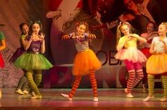"""""""在芭蕾舞蹈艺术的全球性舞蹈""""竞争,米斯克,白俄罗斯。 库存照片"""
