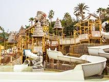 """""""失去的城市""""在泰国waterpark的水吸引力 库存图片"""