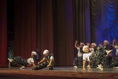 """""""金黄Fenix""""芭蕾舞蹈艺术比赛在米斯克 免版税图库摄影"""