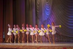 """""""金黄Fenix""""芭蕾舞蹈艺术比赛在米斯克 免版税库存照片"""
