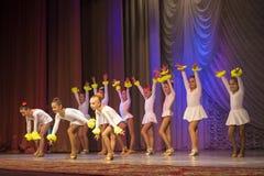 """""""金黄Fenix""""芭蕾舞蹈艺术比赛在米斯克 图库摄影"""
