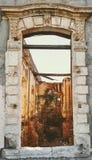 """Cuartel de Villa ""άποψη παραθύρων στοκ εικόνα"