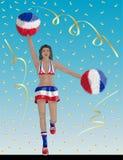Cuban Cheerleader of Cuba Fans vector illustration