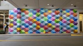 """""""Di lusso eccellente """", un murale da Ricardo Paniagua nel West Village, Dallas, il Texas fotografia stock"""